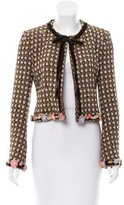 Ungaro Velvet-Trimmed Tweed Jacket.