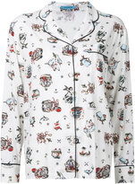 GUILD PRIME sea print pyjama shirt - women - Rayon - 34