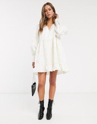 Sister Jane mini smock dress in textured jacquard