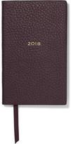 Smythson Panama 2018 Textured-leather Diary - Burgundy