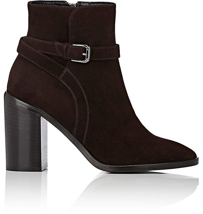 Barneys New York WOMEN'S WRAPAROUND-STRAP SUEDE ANKLE BOOTS