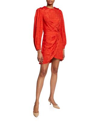 Johanna Ortiz Liricas del Momento Palm-Jacquard Satin Asymmetric Dress