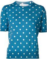 Comme des Garcons shortsleeved polka dot jumper - women - Wool - L