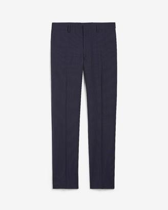 Express Extra Slim Navy Stripe Wool-Blend Suit Pant