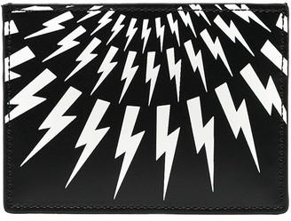 Neil Barrett Thunderbolt print cardholder