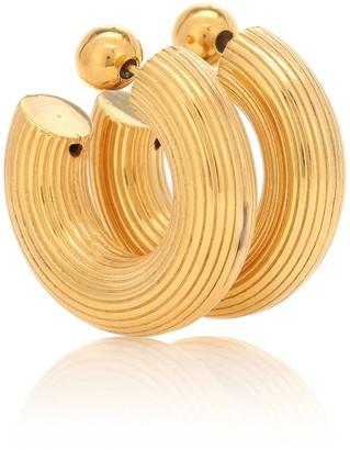 Sophie Buhai Small Column 18kt gold-plated hoop earrings