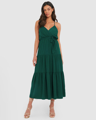 Forcast Tia Tiered Maxi Dress