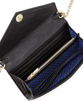Rebecca Minkoff Leather Wallet-on-a-Chain Bag, Black
