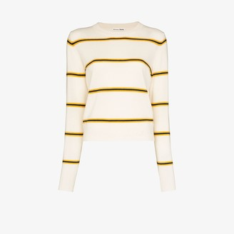 Reformation Striped cashmere sweater