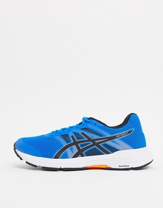 Asics Running gel exalt 5 trainers in blue