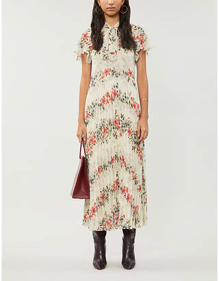 RED Valentino Floral-print chiffon maxi dress