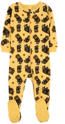 Leveret Yellow UPS Footed Sleeper Pajama