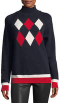 Moncler Maglione Tricot Argyle Hooded Pullover Sweater