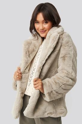 NA-KD Colored Faux Fur Short Coat Pink