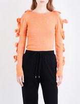 Zoe Jordan Lovelace wool and cashmere-blend top