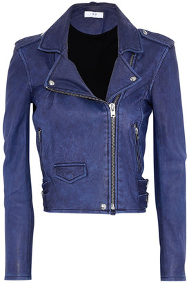 IRO Blue Leather Jackets