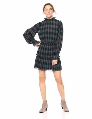 The Fifth Label Women's Zone Tartan Mock Neck Long Sleeve Mini Dress