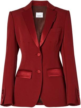 Burberry Contrast-Trim Tailored Blazer
