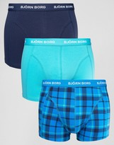 Bjorn Borg 3 Pack Trunks Check