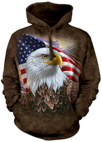 The Mountain Brown Independence Eagle & Flag Hoodie - Unisex