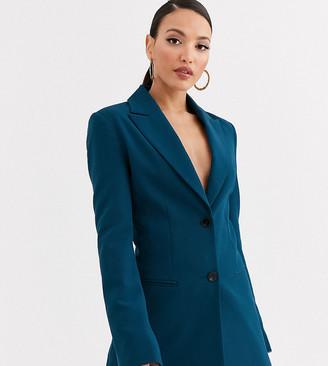 Asos DESIGN Tall pop suit blazer in teal