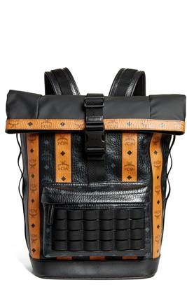 MCM Visetos Roll Top Backpack
