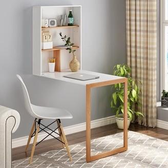 Ebern Designs Treanor Floating Desk with Hutch