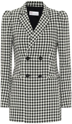 RED Valentino Gingham double-breasted blazer