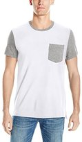Kenneth Cole Reaction Men's Short Sleeve One Pocket Colorblock T-Shirt