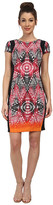 Maggy London African Stencil Light Weight Scuba Sheath