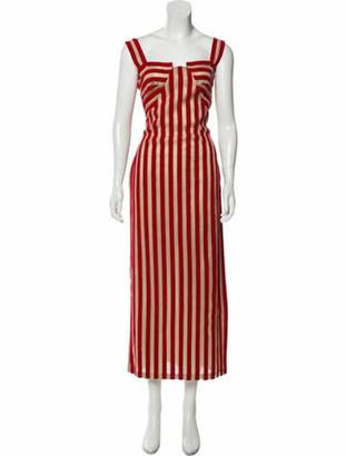 Sandra Mansour Velvet Maxi Dress Red