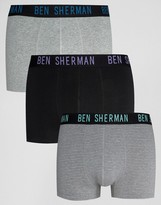 Ben Sherman 3 Pack Boxers Stripe Set