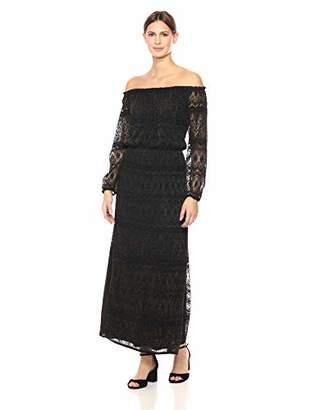 Nine West Women's Off The Shoulder Peasant Maxi Dress