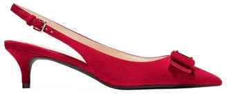 Cole Haan Tali Bow Suede Slingback Pumps