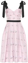 Carolina Herrera Floral cotton and silk-blend dress