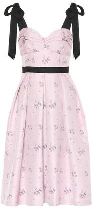 Carolina Herrera Floral cotton and silk-blend dress