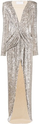 Nervi Ada champagne sequin cocktail dress