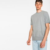 Paul Smith Men's Grey Loopback-Cotton Short-Sleeve Sweatshirt