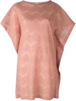 M Missoni oversized zigzag jumper - women - Cotton/Polyamide/Polyester/Metallized Polyamide - XS