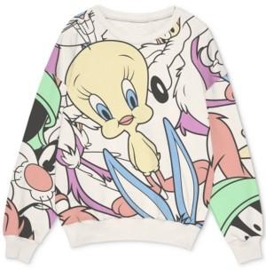 Freeze 24-7 Trendy Plus Size Looney Tunes-Print Sweatshirt