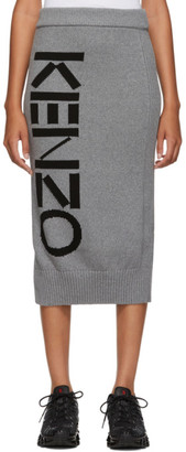 Kenzo Grey Sport Tube Mid-Length Skirt