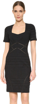 Yigal Azrouel Distressed Compact Stretch Dress