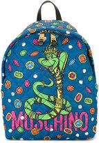 Moschino Zaino snake cartoon backpack - women - Polyamide - One Size
