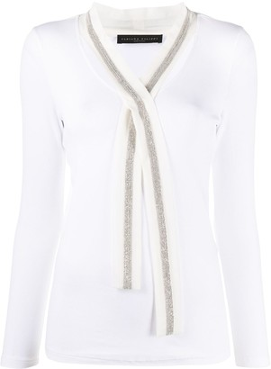 Fabiana Filippi Tie Neck Silk Knitted Top