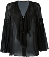 Roberto Cavalli ruffled sheer blouse - women - Silk - 44