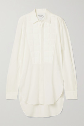 Bottega Veneta Embossed Silk Crepe De Chine Shirt - White