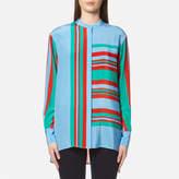 Diane von Furstenberg Women's Long Sleeve Oversized Shirt Borel