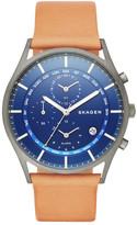 Skagen Men's Holst Titanium Leather Strap Watch
