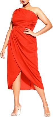 City Chic True Love One-Shoulder Midi Dress