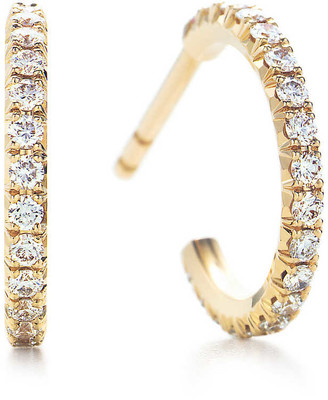 Tiffany & Co. Metro hoop earrings in 18k gold with diamonds, small